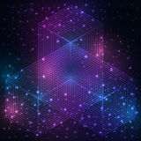 Священный символ геометрии Элемент тайны мандалы Стоковое Изображение