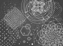 Священный фон геометрии Стоковое Изображение