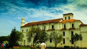 Св. Франциск Св. Франциск церков Assisi, Goa стоковое изображение rf