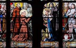 Св. Франциск Св. Франциск Assisi, Святого Антония Падуи и St Элизабет стоковое фото rf