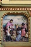 Св. Франциск Св. Франциск Xavier, altarpiece в базилике священного сердца Иисуса в Загребе стоковое изображение rf