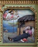 Св. Франциск Св. Франциск Xavier, altarpiece в базилике священного сердца Иисуса в Загребе стоковая фотография