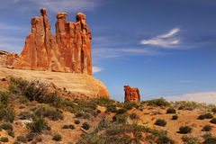 сгабривает национальный парк Юту moab Стоковое фото RF