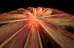 Сгорание на черной предпосылке, фрактали представленная иллюстрация иллюстрация штока