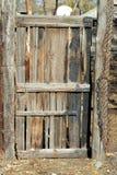 сгоранная дверь деревянная Стоковое фото RF