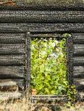 Сгоранная дом Стоковое Изображение