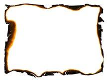сгоранные края обрамляют grunge стоковая фотография