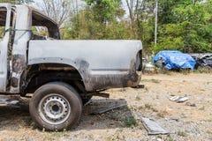 Сгорели автомобиль случайно стоковое фото