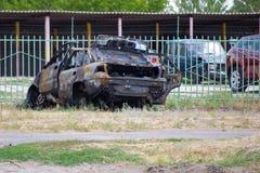 сгорели автомобиль Стоковое Фото