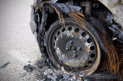 Сгорели автомобиль Стоковые Фото