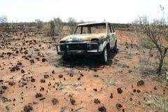 сгорели автомобиль Стоковая Фотография RF