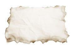 сгорели бумага краев Стоковое Изображение
