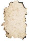 сгорели бумага сморщила Стоковая Фотография