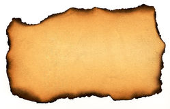 сгорели бумага Стоковое Фото