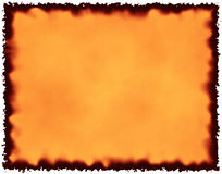 сгорели бумага Стоковое Изображение RF
