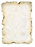 сгорели бумага Стоковое Изображение