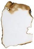 сгорели бумага Стоковая Фотография RF