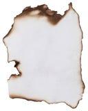 сгорели бумага Стоковые Фотографии RF