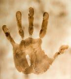 сгорели бумага handprint Стоковая Фотография RF