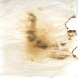 сгорели бумажный пергамент Стоковая Фотография