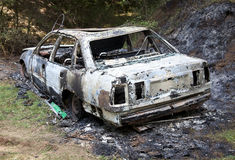 Сгорели вне автомобиль Стоковое Изображение RF