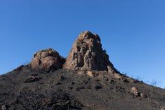 Сгорели гора стоковая фотография rf