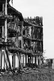 сгорели дом пожара вне Стоковые Изображения RF