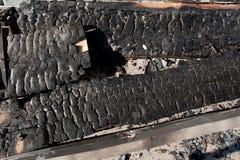 Сгорели древесина Стоковое фото RF