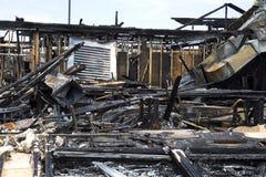 сгорели земной ресторан к Стоковое Изображение RF