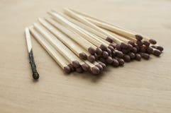 Сгорели и все головные matchsticks Стоковая Фотография
