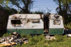 сгорели караван Стоковая Фотография