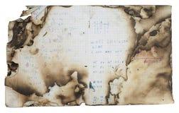 сгорели книгой, котор сочинительство школы Стоковая Фотография RF