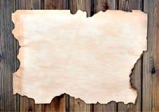 сгорели окаимленная бумага Стоковые Изображения RF