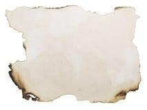 сгорели пакостная бумага Стоковая Фотография