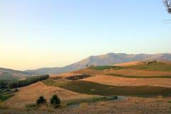 сгорели поля Сицилия Стоковое фото RF