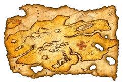 сгорели сокровище карты Стоковая Фотография RF
