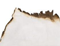 сгорели старая бумага Стоковые Фото