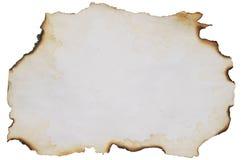 сгорели старая бумага Стоковые Фотографии RF