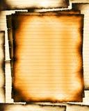 сгорели управляемые листы Стоковое Фото