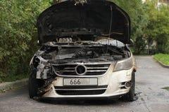Сгорели VW, котор Стоковое Изображение
