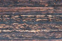 Сгоренная деревянная текстура Стоковые Изображения RF