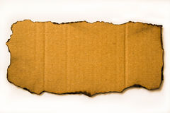 Сгоренный картон Стоковое Изображение RF