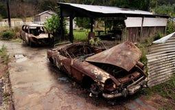 Сгорели автомобили Стоковая Фотография RF