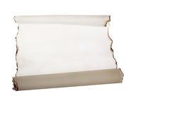 Сгорели белая бумага Стоковая Фотография RF