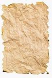 Сгорели бумага с скомканный Стоковые Изображения RF