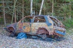 Сгорели вне автомобиль Стоковая Фотография
