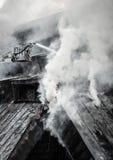 сгорели здание, котор Стоковые Фотографии RF