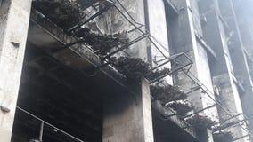 Сгорели здание профессионального союза в Киеве, Украине