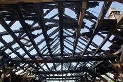 Сгорели крыша Стоковые Изображения