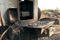 Сгорели машина токарного станка, который Стоковые Изображения RF